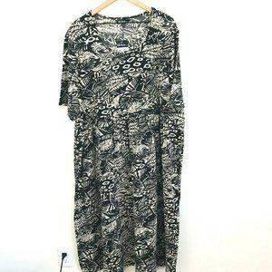 NWT! Ulla Popken Printed Short Sleeve Midi Dress